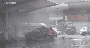 elektromobil explodoval počas nabíjania