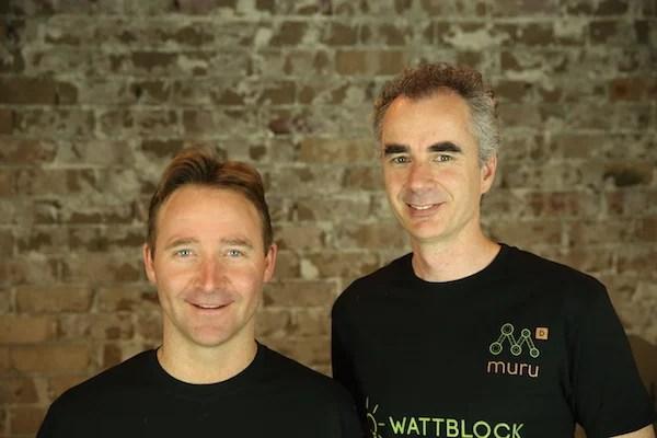 Wattblock founders Brent Clark and Ross McIntyre