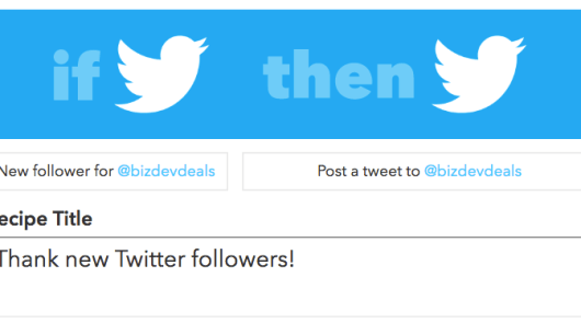 IFTTT Recipes: Experimenting With Twitter