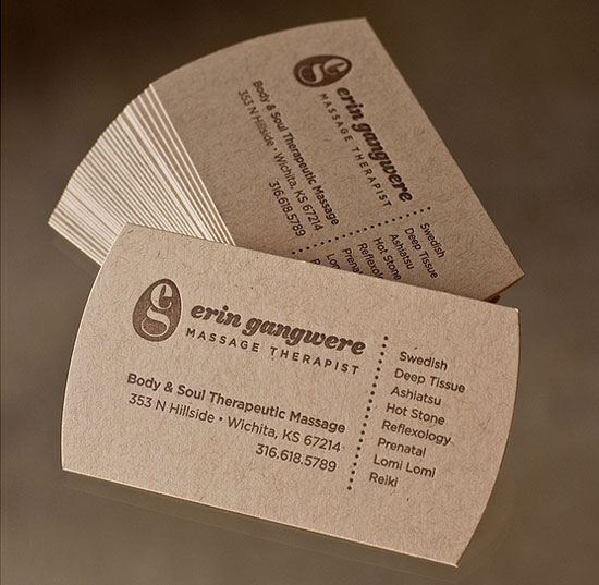 Massage Therapist Business Card Samples & Ideas | StartupGuys.net