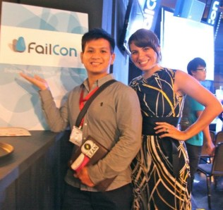Albert Mai with Kristine Lauria at FailCon Singapore 2012