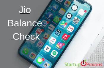 jio balance check