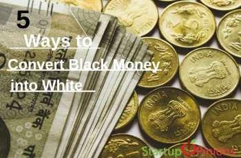 Convert Black money into white money