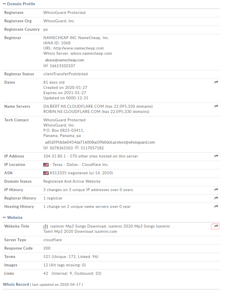 Moviesda server details