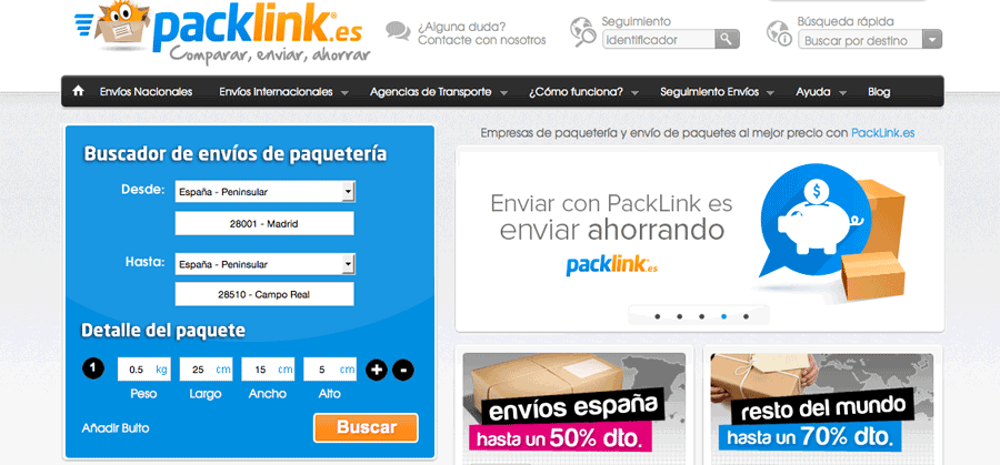 PackLink – enviar paquetes al mejor precio