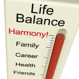 Life Balance Harmony Meter Shows Lifestyle And Jobs Desire