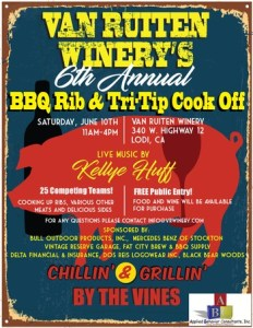 BBQ Events: Van Ruiten Winery's 6th Annual Rib & Tri-Tip Cook Off