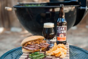 Golden State Tri Tip Sando With Easy G Aioli Paired with Calicraft's Oaktown Brown