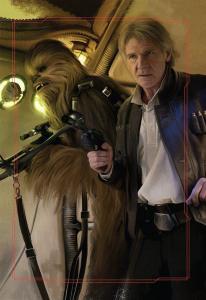 Han Solo en Chewbacca op de Millennium Falcon - door Brian Rood