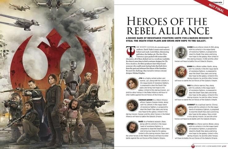 Namen en afbeeldingen van de Rebellen