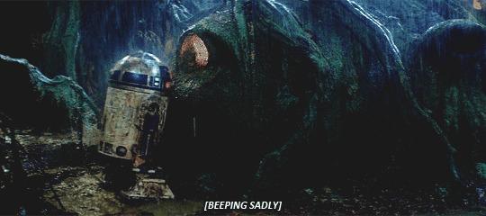 R2 beeping sadly