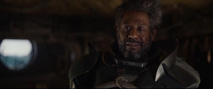"""Saw verteld Jyn dat """"the world is coming undone"""". Het gaat niet goed omdat de Empire de macht heeft in het sterrenstelsel."""