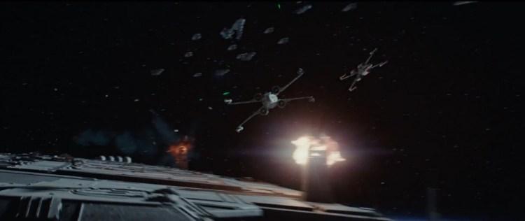 Zeg nou zelf, het is altijd geweldig om X-Wings in de ruimte in actie te zien!