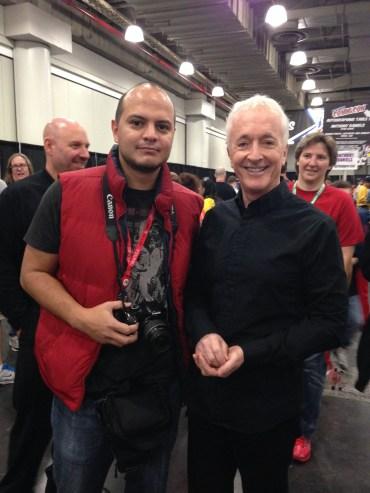El maestro @alejoserrano logró tomarse la foto con el actor en el ComicCon de Nueva York 2013.