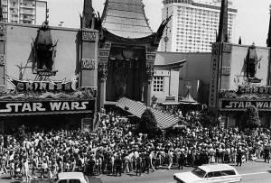 Debut de Star Wars en 1977