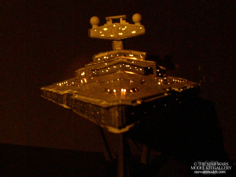Star Destroyer With Fiber Optic Lighting System 14222