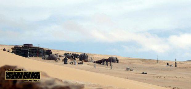 Un décor en construction pour la Star Wars Story sur Han Solo à Fuerteventura