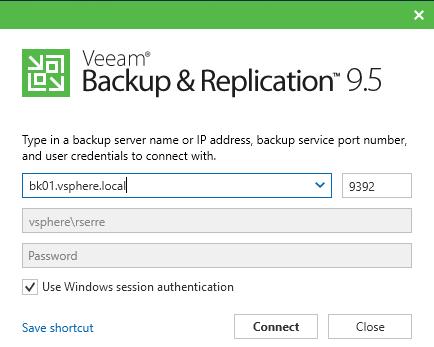 Veeam Backup & Replication 9.5 backup server specification