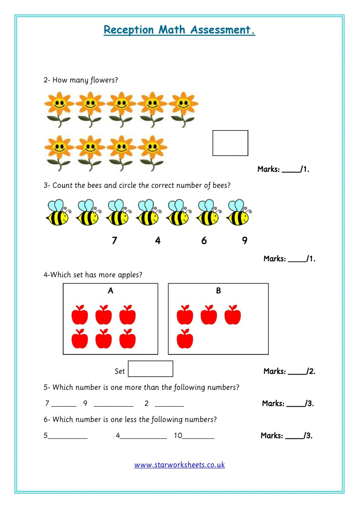 reception-assessment-worksheets