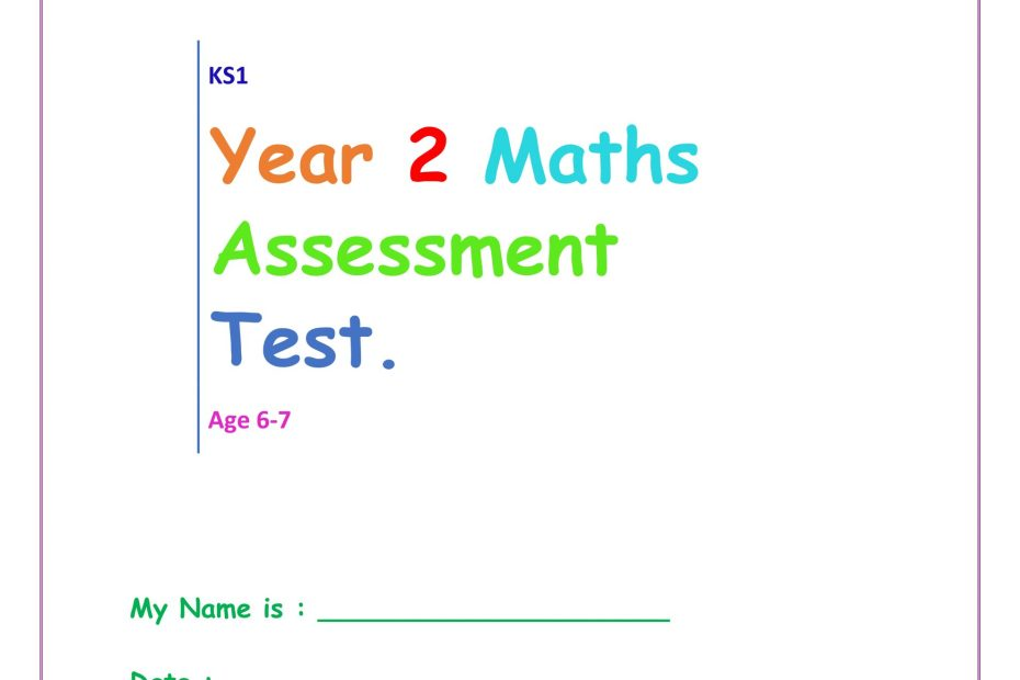 year 2 maths test pdf