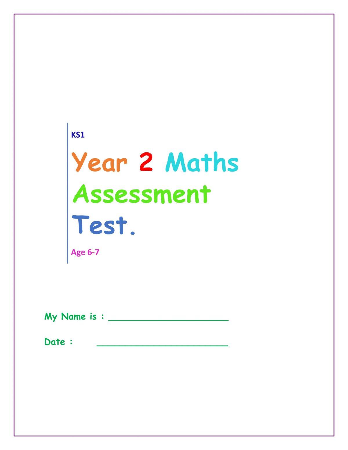 year 2 maths test pdf