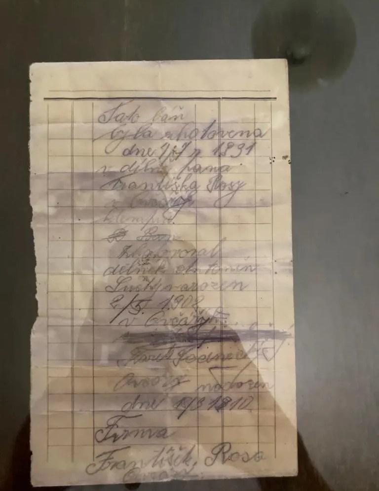listina z báně sanktusníku