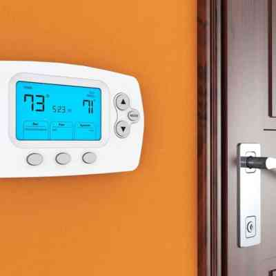 A programmable thermostat saves a lot of money on electricity.