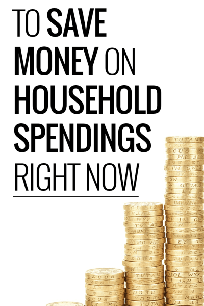 How to save money on household spending.