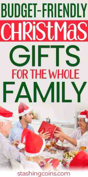 Inexpensive Christmas gift ideas your whole will love.