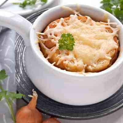 Affordable quick french onion soup