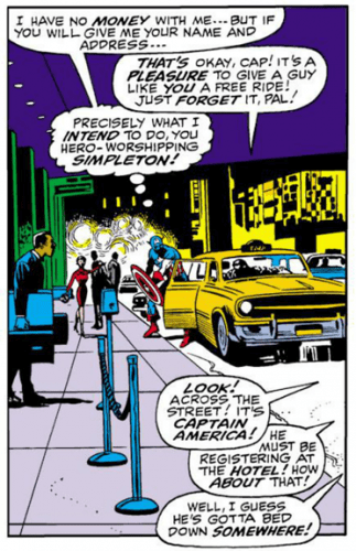 Red Skull gets a cab ride