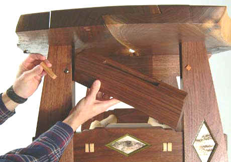 secret compartment in coffee table