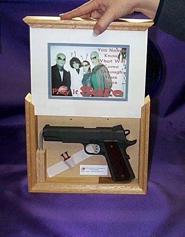 Picture Frame Hidden Gun Storage