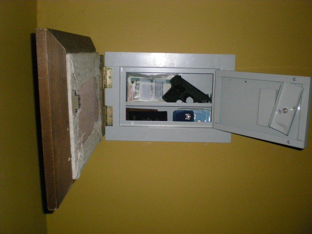 Secret Wall Safe With Pistol Storage StashVault
