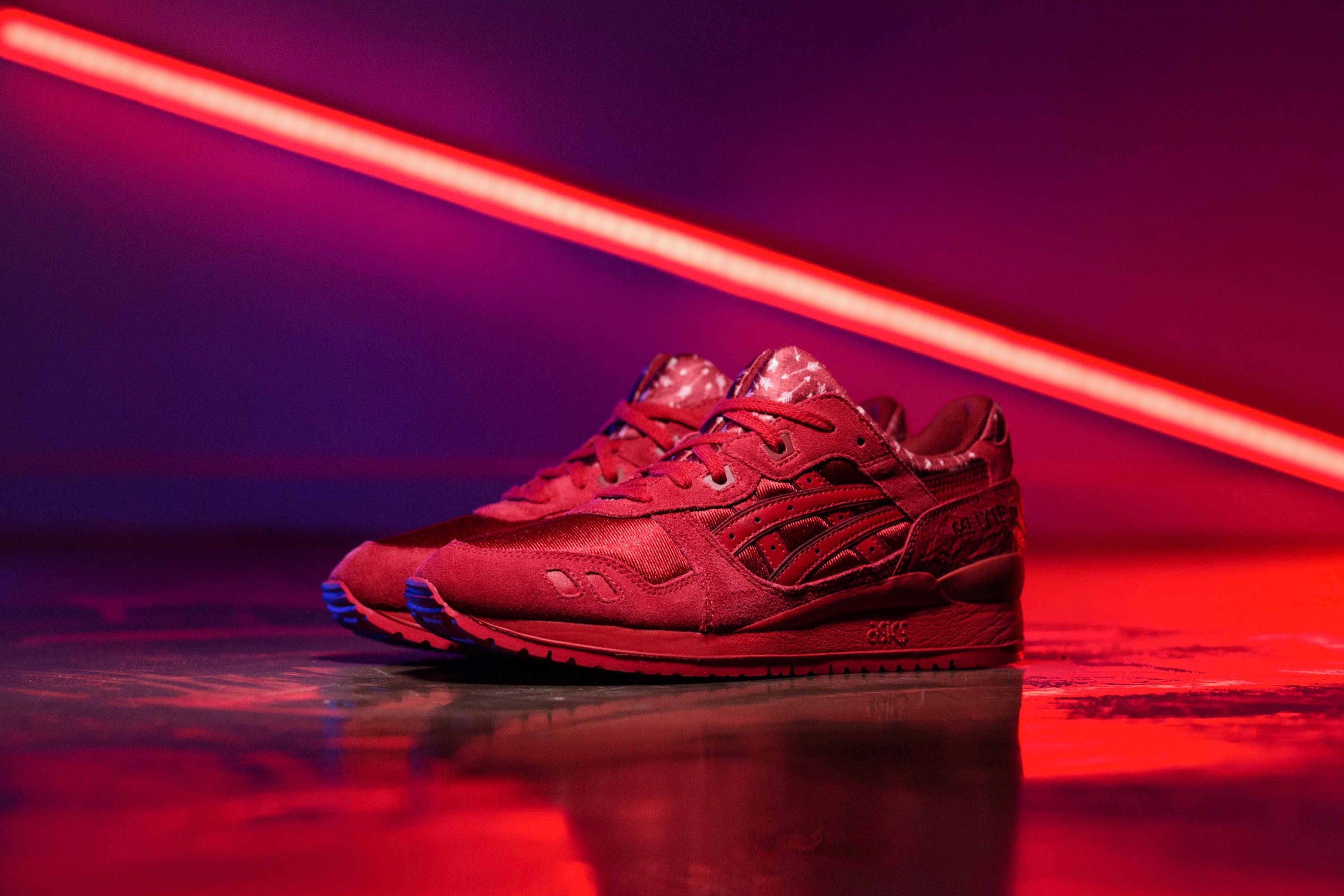 ASICS Gel Lyte III Valentines Pack Red Red STASP