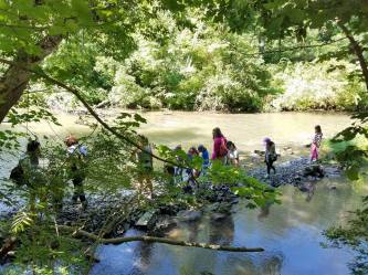Girl Scouts hike Fishermans Paradise