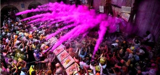 Holi at Banke Bihari Temple in Vrindavan