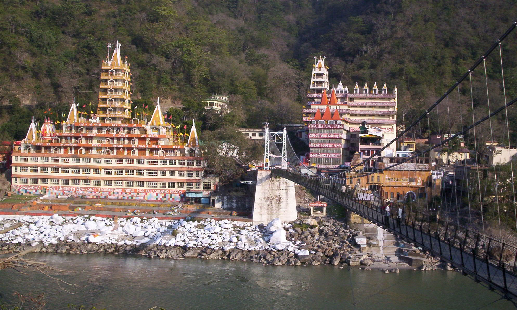 Rishikesh with background Ganga river