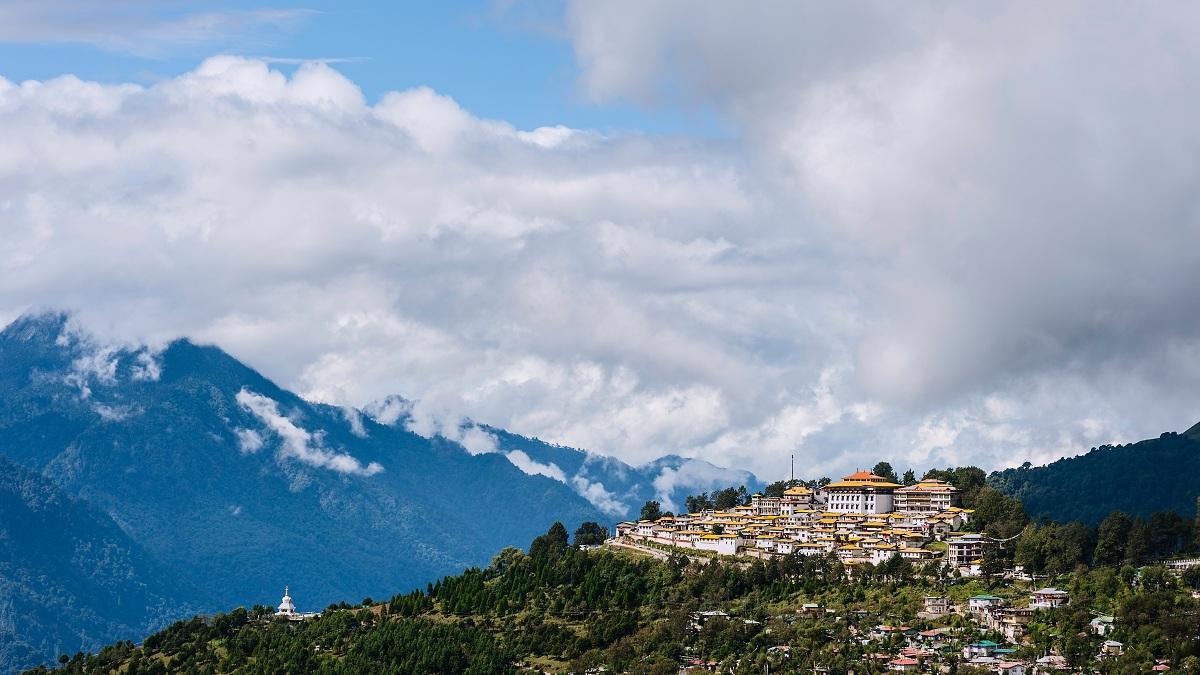 Tawang Buddhist monastery, Arunachal Pradesh, India.