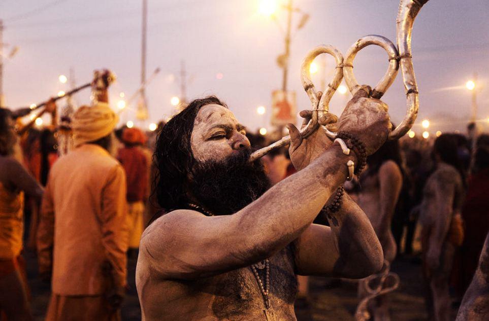 a man using an musical instrument