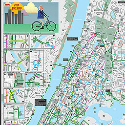 BICYCLISTS Bicycle Maps 2017 New York City Bike Map Staten Island