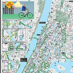 BICYCLISTS Bicycle Maps 2017 New York City Bike Map - Staten Island ...