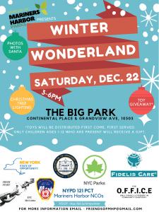 Winter Wonderland Event atThe Big Park on Saturday, December 22, 2018