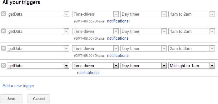 Automate Google spreadsheet updates