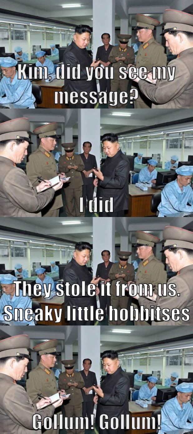 Kim Jong-un private messaging