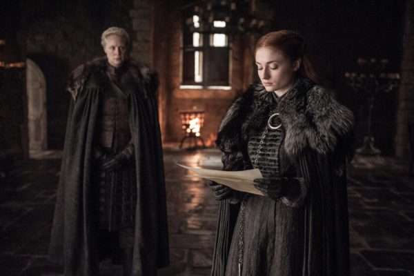 an image of Sansa and Brienne