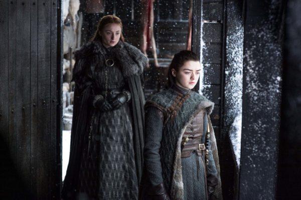 an image of Sansa and Arya