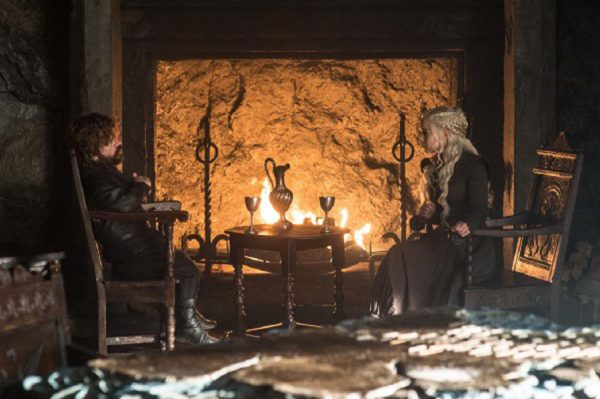 an image of Tyrion and Daenerys