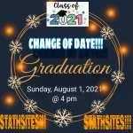 GRADUATION 2021 DATE CHANGED