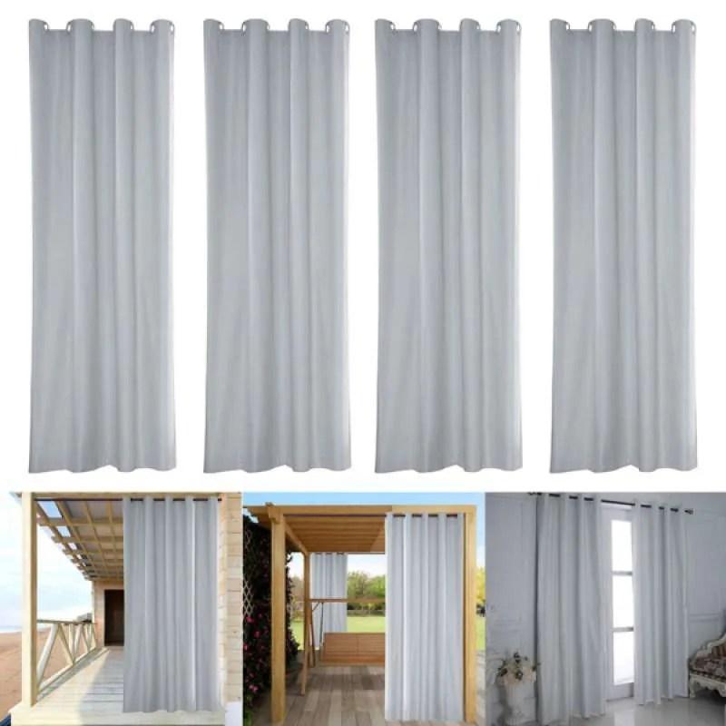4x waterproof window curtain panel outdoor blackout drape uv privacy 54x96inch